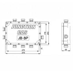 Сумматор для 8-ми тензодатчиков CAS JB-8P