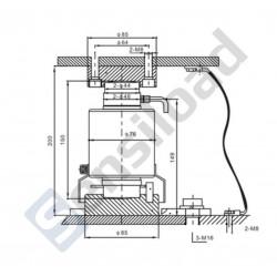 Тензодатчик колонного типа SLY-A 30T